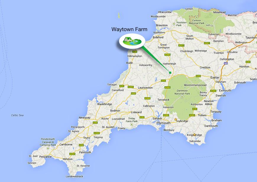 map1 of moving to Devon and moving to cornwall